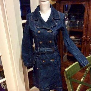 Old Navy denim dress/coat size XS w/ pockets